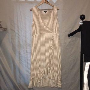 Apt 9 XL faux wrap lightweight knit dress summer